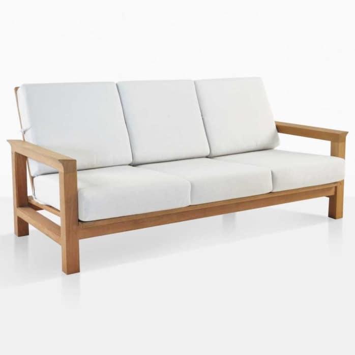 monterey teak outdoor sofa angle
