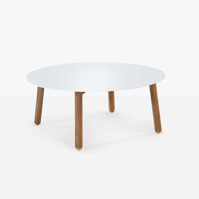 Apollo white a-grade teak coffee table