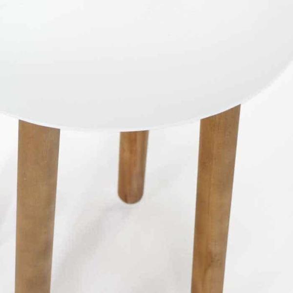 Apollo a-grade teak side table close up