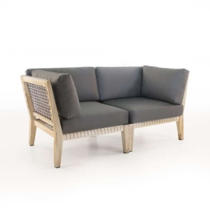 Bay reclaimed teak loveseat