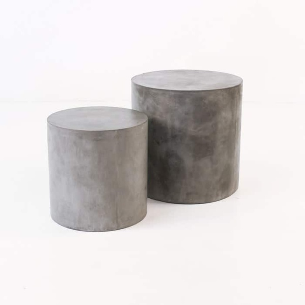 concrete side tables Blok