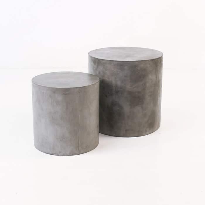 concrete side tables Blok