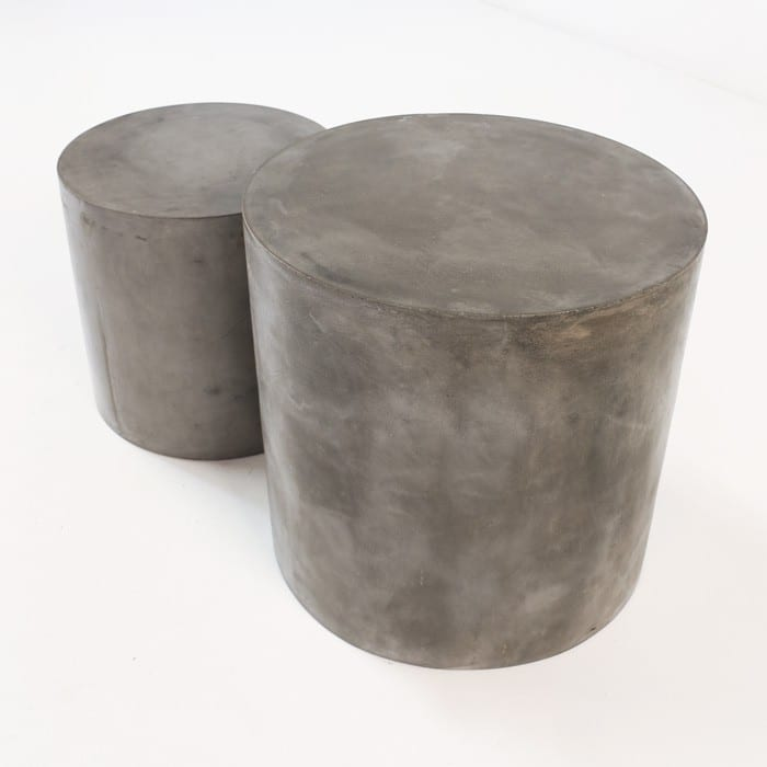 round concrete side tables Blok
