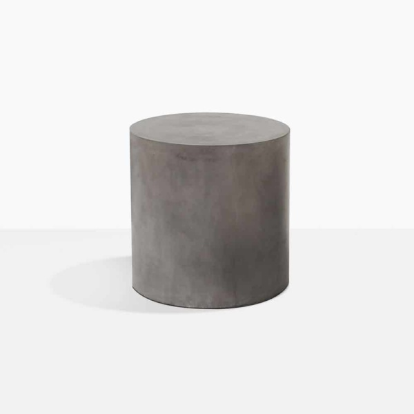 blok round side table concrete small