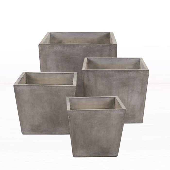 small and large concrete pots Blok