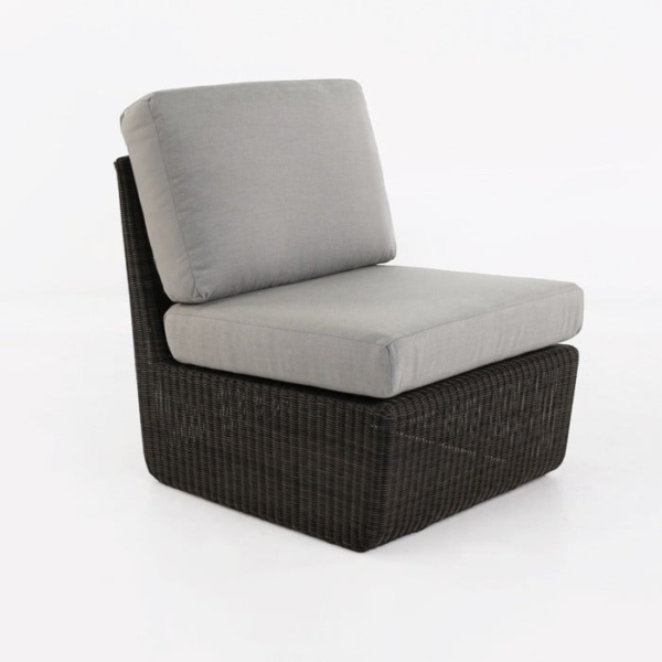 Brooklyn Outdoor Wicker Sectional Center Chair front view