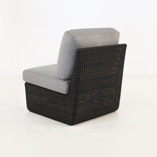 Brooklyn Outdoor Wicker Sectional Center Chair back view