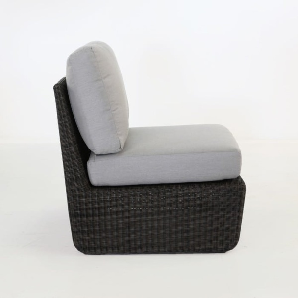 Brooklyn Outdoor Wicker Sectional Center Chair side view