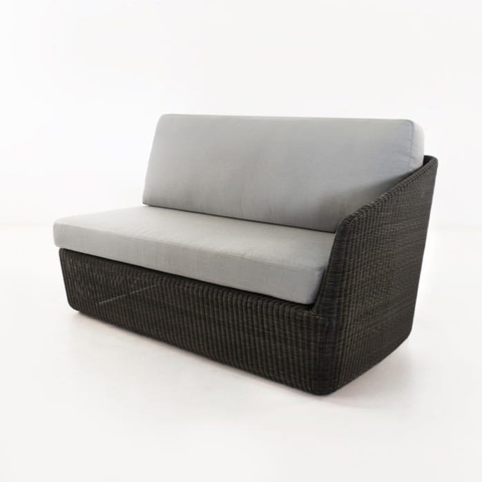 Brooklyn Outdoor Wicker Sectional Left Arm Sofa front view
