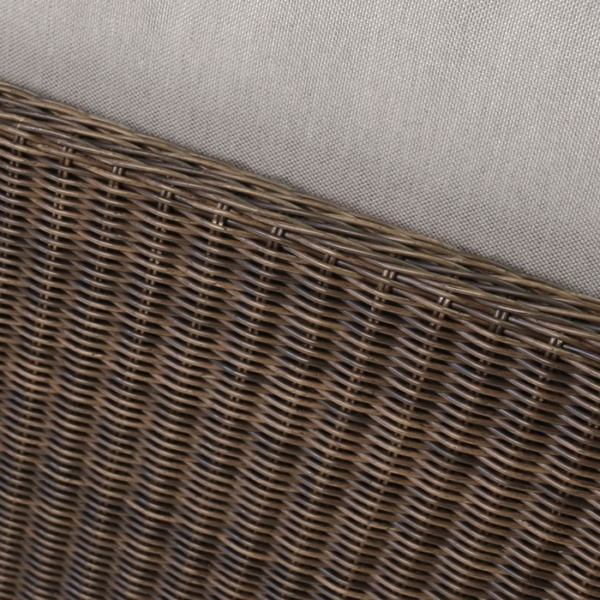 Brooklyn Outdoor Wicker Sectional Center Chair Mocha close up