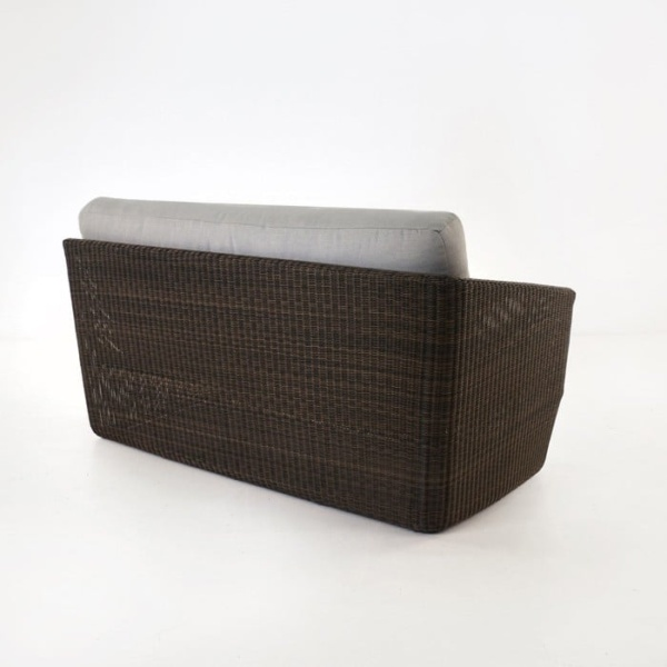 Brooklyn Outdoor Wicker Sectional Right Arm Sofa Mocha back view