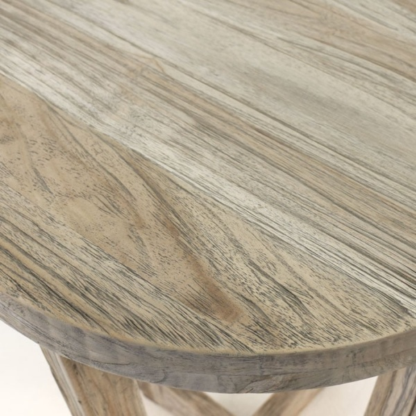 Coco reclaimed teak table close up