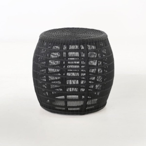 Cosmo black wicker side table