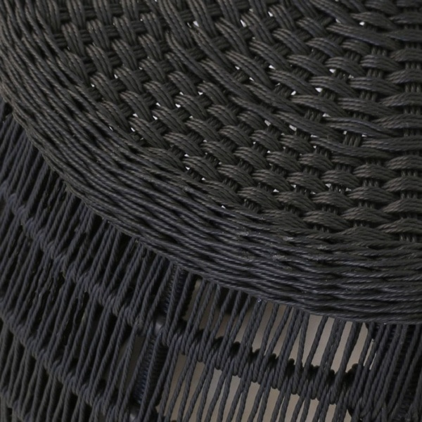 Cosmo black wicker weave close up