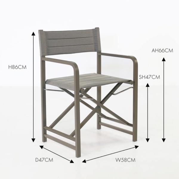 el fresco folding dining chair