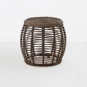 Kane brown wicker side table
