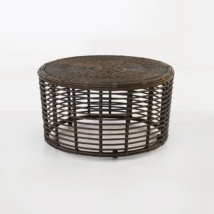 Kane brown wicker coffee table
