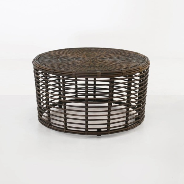 Kane brown wicker coffee table