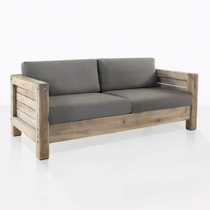 lodge loveseat teak outdoor