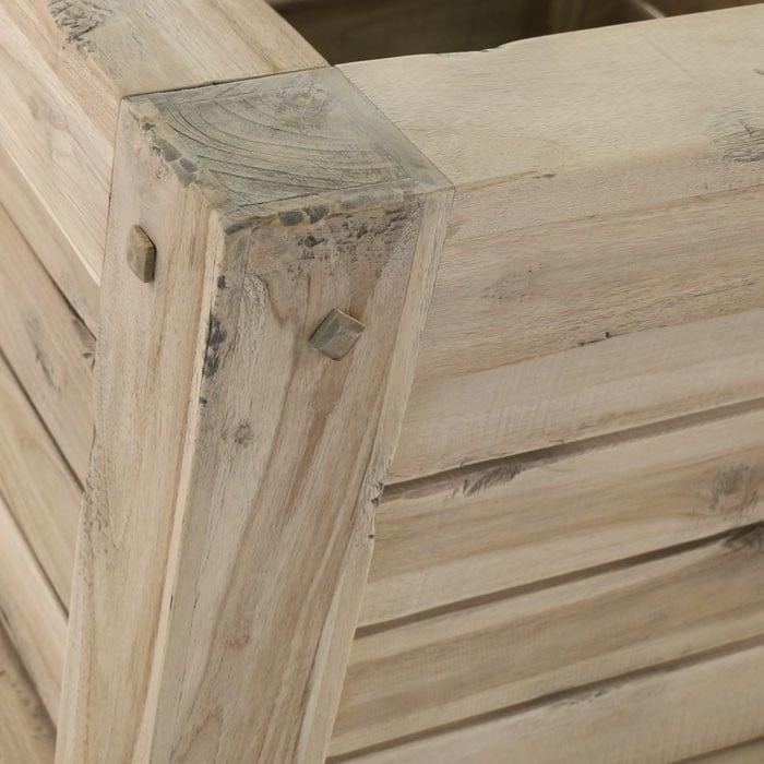 Lodge distressed teak wood close up