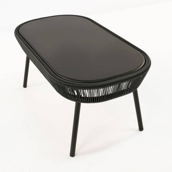 Luxe black accent table
