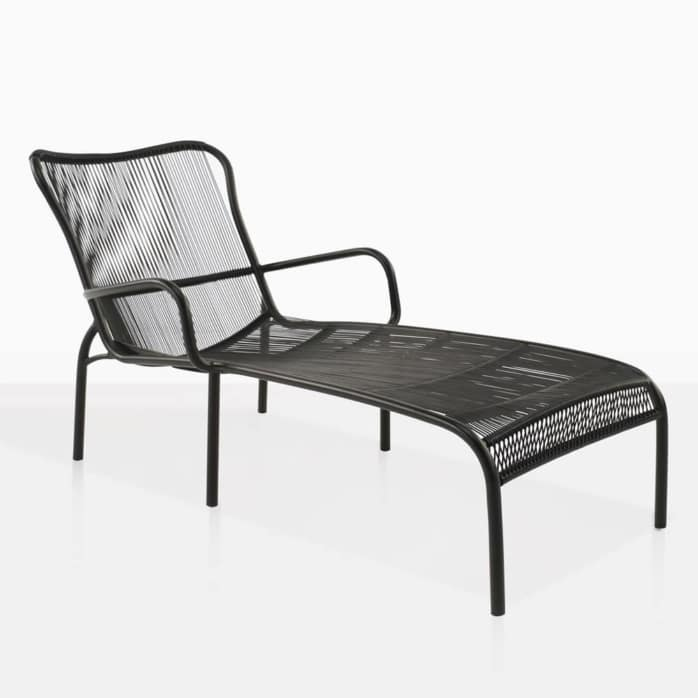 luxe black sun lounger outdoor