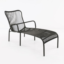 Luxe black sun lounger