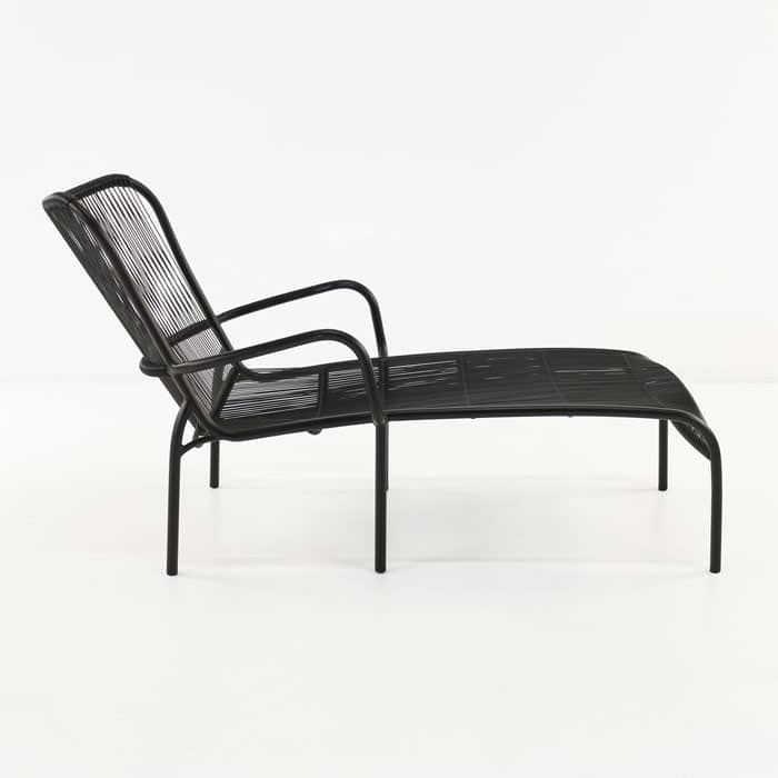 Luxe black day bed side view