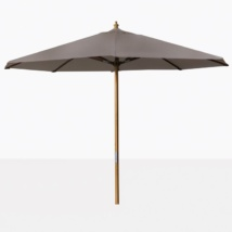 taupe Round Outdoor Umbrella