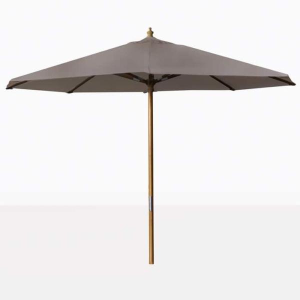 taupe Round Outdoor Umbrella