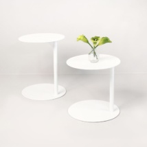 Mood two white aluminum side tables