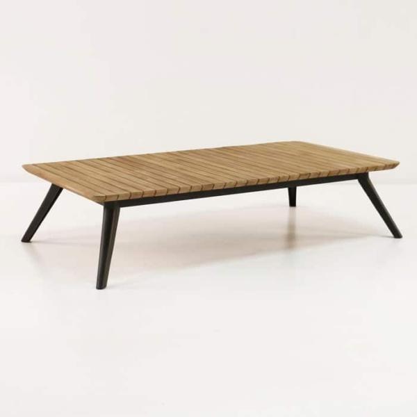 platform reclaimed teak coffee table