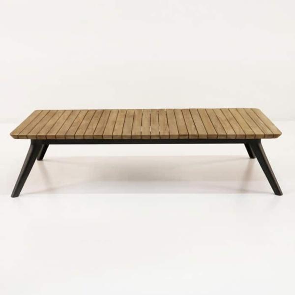 Platform low profile platform reclaimed teak coffee table