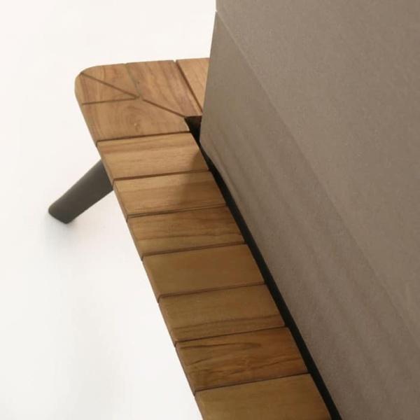 Platform Reclaimed teak sectional frame close up