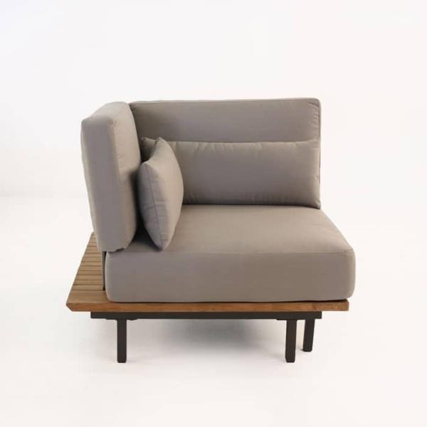 Platform Reclaimed teak sectional corner chair