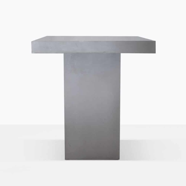 raw concrete outdoor bar table
