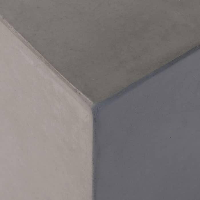 raw concrete corner close up