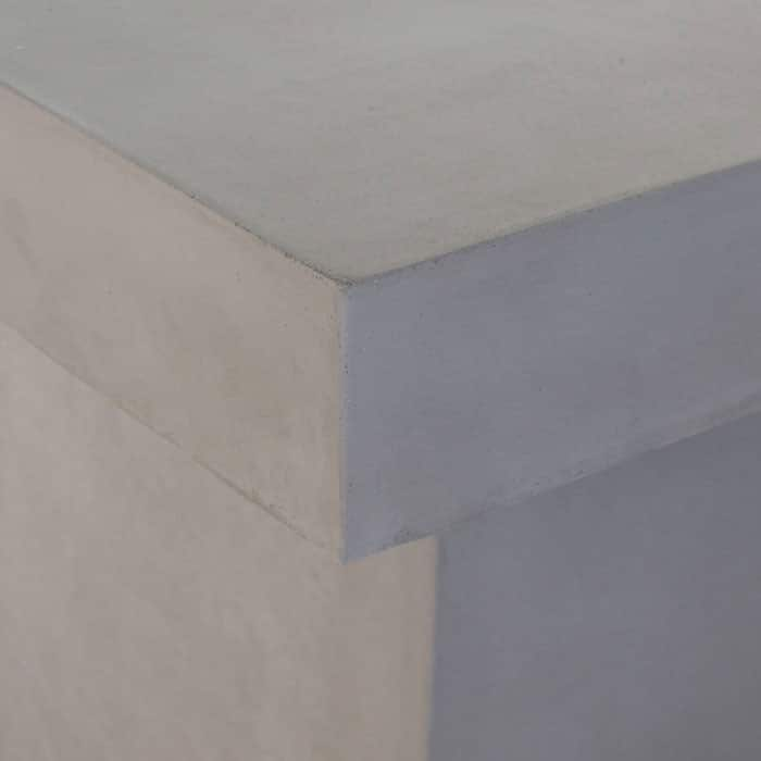 raw concrete corner close up