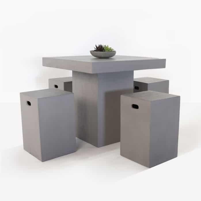 Raw Concrete Outdoor Counter Height Bar Set Design Warehouse Nz