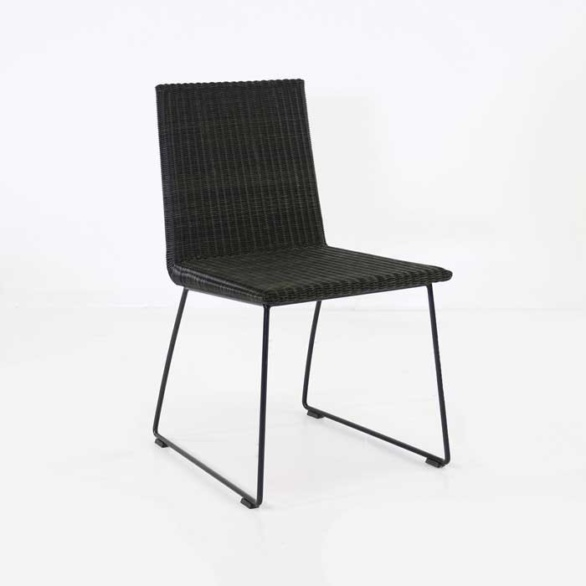 Retro Outdoor Dining Chair Black ...