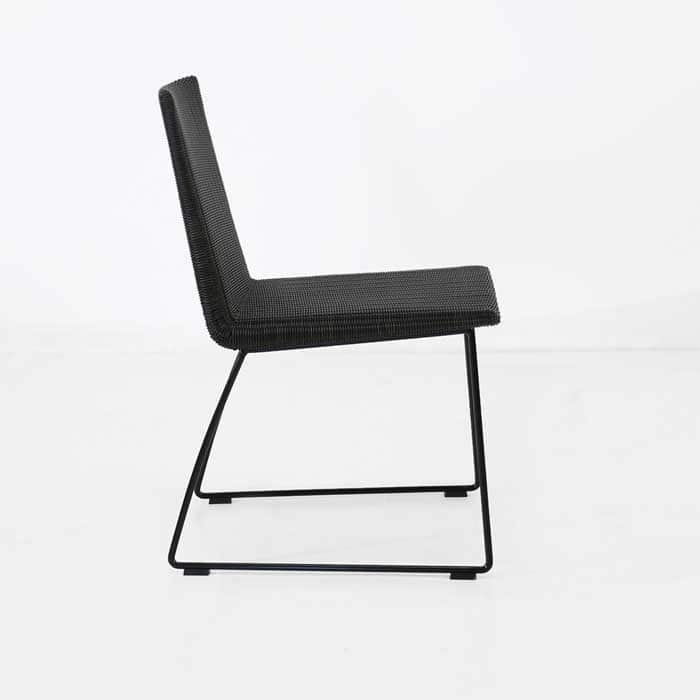 Retro Outdoor Dining Chair black side view