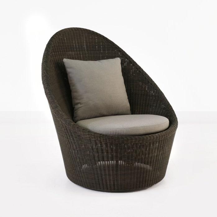 Sunai High-Back Outdoor Wicker Relaxing Swivel Chair