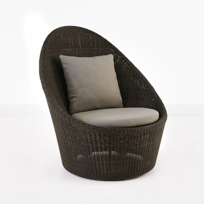 Sunai High-Back Outdoor Wicker Relaxing Swivel Chair