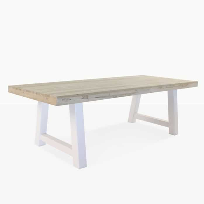 Village reclaimed teak trestle table
