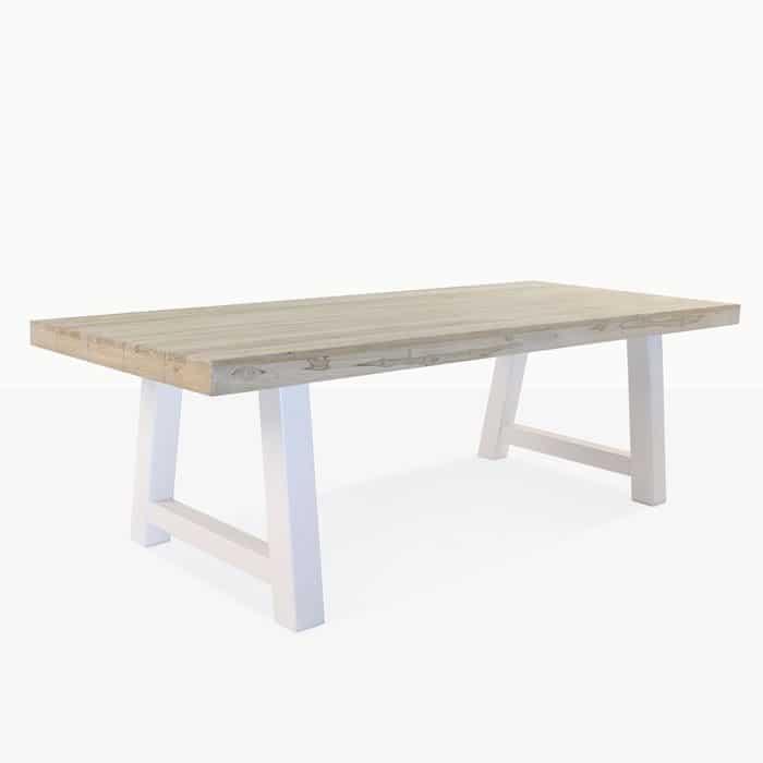 Village reclaimed teak trestle table