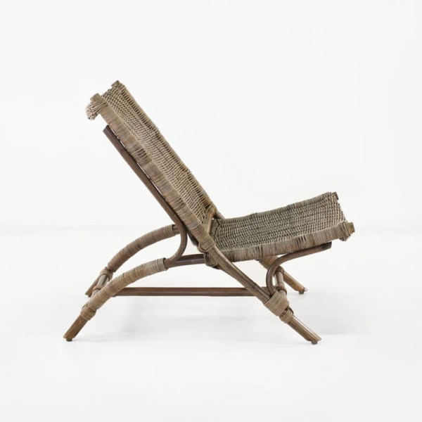 Zen teak chair side view