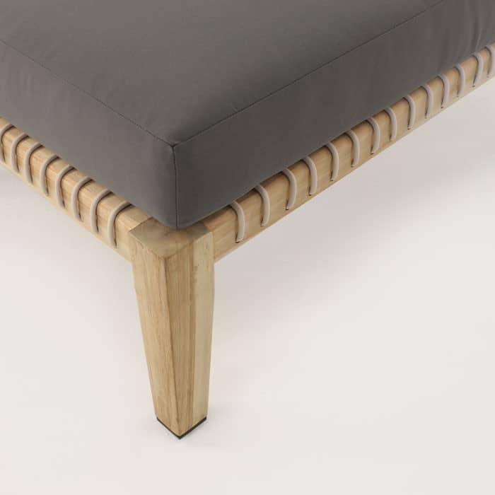 Bay gray ottoman close up