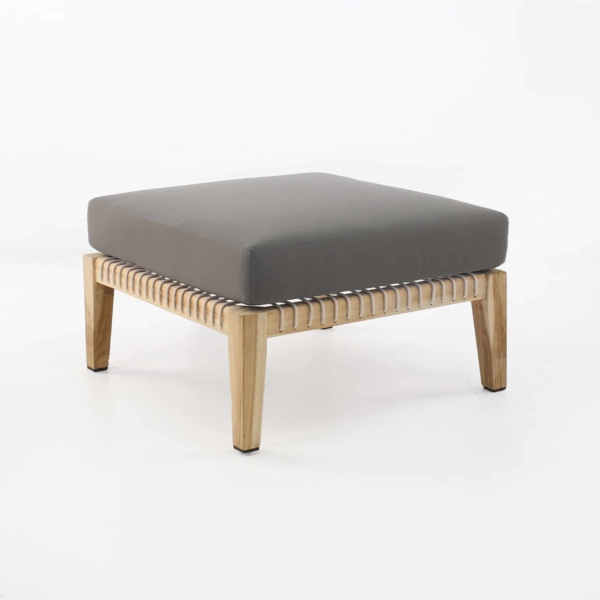 Bay Ottoman with gray cushion