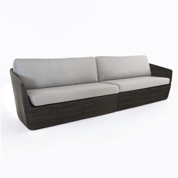 Brooklyn outdoor wicker sectional sofa charcoal all for Sofa warehouse