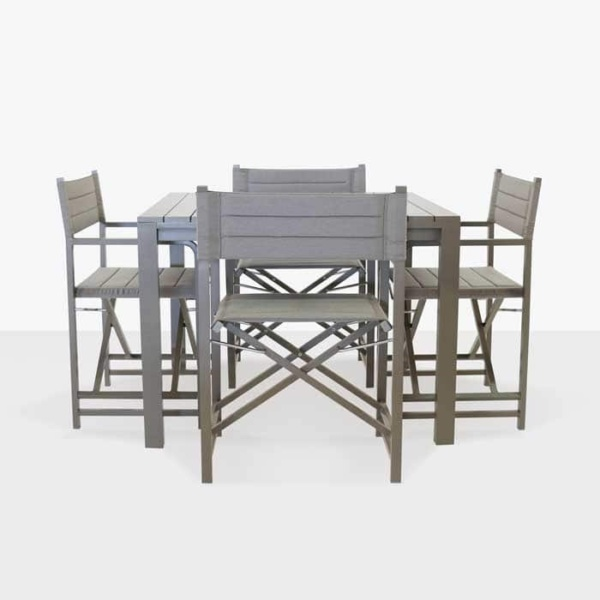 El Fresco dining table with 4 director chairs